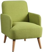Teodore - fauteuil rembourré tissu vert