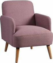 Teodore - fauteuil rembourré tissu violet