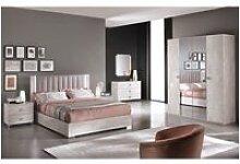 Teresa - chambre complète 140x190cm aspect béton