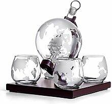Terre Forme Whiskey Decanter Set Vodka Globe