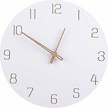 TETAKE 30 CM Horloge Blanche Horloge Murale