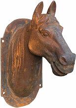 Tête de cheval mural en fonte fondue finition
