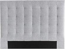 Tête de lit capitonnée en tissu gris 160 cm