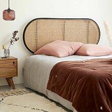 Tête de lit en rotin et cannage 165 - Noir