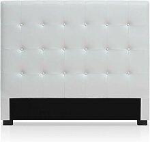 Tête de lit Luxor 140cm Blanc - Blanc