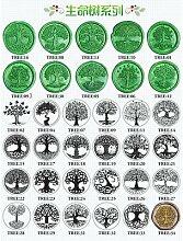 Tête de sceau de cire en métal, arbre de vie