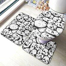 Textura Calaveras Lot de 3 tapis de bain