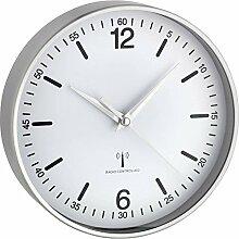 TFA Horloge Murale Radio-Pilotée en Aluminium,