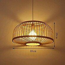 TGFVGHB Lustre en bambou Weave Lampe japonaise