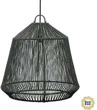 THE CONIC-Suspension Jonc de Mer Ø50cm Noir Bazar