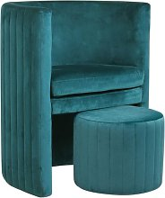 The Home Deco Factory - Fauteuil Cabriolet Velours