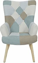 THE HOME DECO FACTORY Fauteuil Chaise Patchwork,