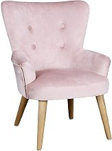 The Home Deco Factory - Fauteuil Helsinki rose