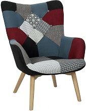 The Home Deco Factory - Fauteuil Milano Patchwork