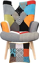 The Home Deco Factory - Fauteuil Patchwork