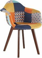 The Home Deco Factory - Fauteuil patchwork rétro