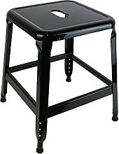 THE HOME DECO FACTORY HD3222 Tabouret Métal Noir