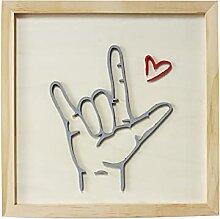 The Original I Love You Sign Language Decor, Art
