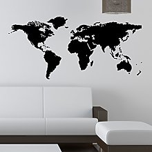 THE VINYL BIZ Sticker mural carte du monde pour