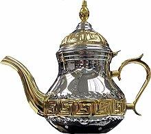 Théière arabe fabriquée en acier inoxydable