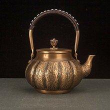 Théière Bouilloire en cuivre vintage faite à la