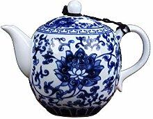 Théière chinoise Jingdezhen en céramique peinte