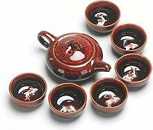 Théière chinoise portable Kung Fu vintage en