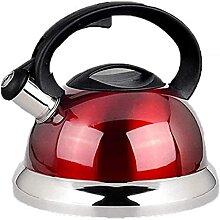 Théière en acier inoxydable 304 - 3 L - Rouge -