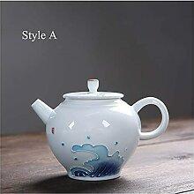 Théière en céramique blanche Pot de thé
