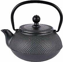 Théière en fonte avec infuseur à thé Noir 600