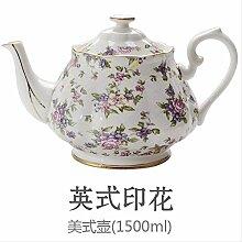 Théière en porcelaine anglaise Motif floral