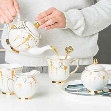 Théière en porcelaine de luxe, style nordique, 1