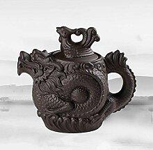 Théière en terre cuite 530mlpurple, dragon