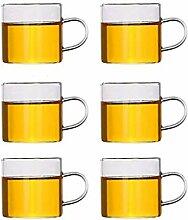 Théière en verre clair Ensemble de tasse à thé