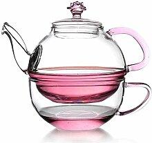 Théière en verre haute température avec filtre