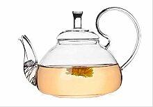 Théière en verre résistant à la chaleur 600 ml