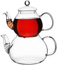 Théière en verre théière à thé turque