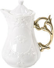 Théière I-Teapot - Seletti blanc/or en céramique