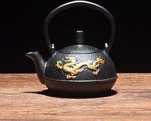Théière japonaise en fer plaqué or, bouilloire