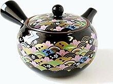 Théière Japonaise Kyusu en Céramique, 500cc,