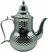 Théière marocaine fabriquée en acier inoxydable