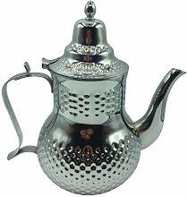 Théière marocaine réalisée en acier inoxydable