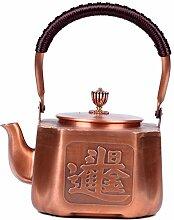 Théière Pot carré 1.6L, pot en cuivre,