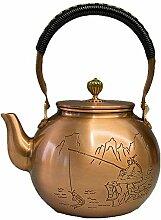Théière Pot en cuivre antique, pot en cuivre