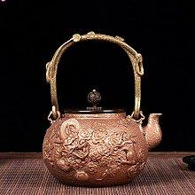 Théière Pot en cuivre fait à la main, théière