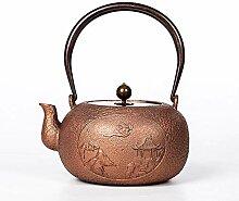 Théière Pot en cuivre pur fait à la main,