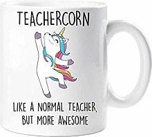 Théière Tasse Licorne Comme Un Enseignant