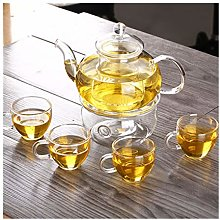 Théière Thé de thé en verre Set avec soucoupe