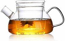Théière Théière en verre transparente avec