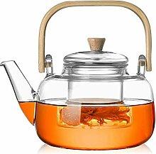 Théière Théière, sertie de thé en verre,